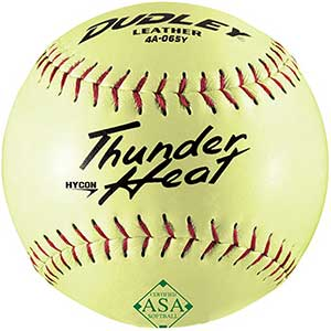 Dudley ASA Thunder Hycon Leather Slowpitch Softball