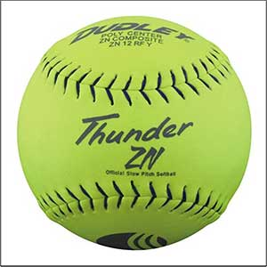 Dudley USSSA Thunder ZN Slow Pitch Softball - .47 COR - Stadium Stamp