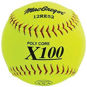 MacGregor X52RE ASA Slow Pitch Composite Softball, 12-inch