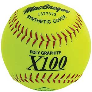 MacGregor X52RE ASA Slow Pitch Synthetic Softball, 12-Inch