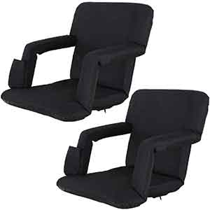 Oteymart Set of 2 Portable Stadium Seat for Bleachers and Bench