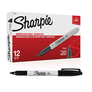 Sharpie Fine-Point Permanent Markers (Black)