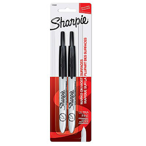 Sharpie Retractable Ultra-Fine-Point Permanent Markers – Two Count