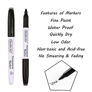 Shuttle Art Fine-Point Permanent Markers