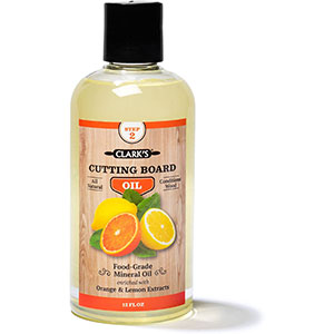 Butcher Block Oil & Conditioner, Lemon & Orange Formula