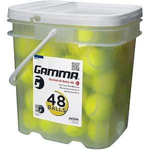 Gamma Bucket of Pressureless Tennis Balls – 40/48 Count