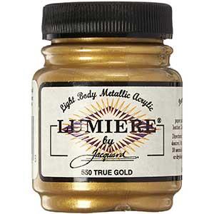 Lumiere Metallic Acrylic Paint -True Gold