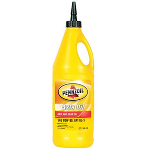 Pennzoil Axle And Gear Oil, Low Temperatures