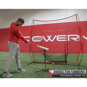 PowerNet Baseball Softball Practice Net 7 x 7 with Travel Tee