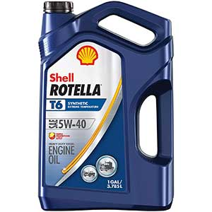 Shell Rotella T6 Synthetic 5W-40 Diesel Engine Oil