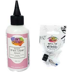 Art Glitter Glue For Cardstock - Metal Tip