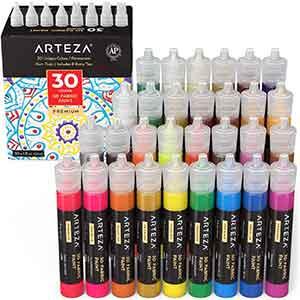 Arteza 3D Fabric 30 Color Metallic & Glitter Set