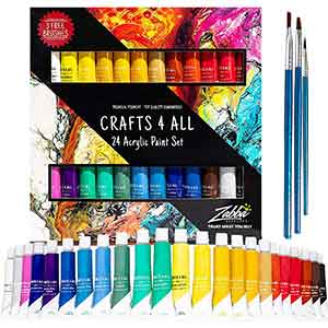 Best Acrylic Paint for Canvas, Wood, Ceramic, Fabric 24 Color