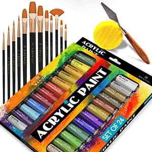 Complete Acrylic Paint for painting - 24 Color-Set