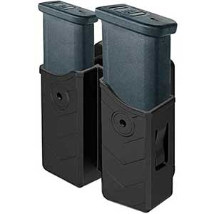 HQDA Dual-Stack Ar Mag Pouch for Glock- 17/19/22 (9MM/.40 Cal)