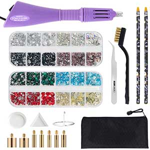Hotfix Applicator - Bedazzler - Tweezers & Cleaning Kit