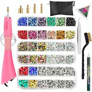 Hotfix Rhinestone Applicator- 4360pcs - Tips, Tweezers, Tray