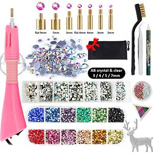 Hotfix Rhinestone Applicator kit – 3880pcs- 12 Colors