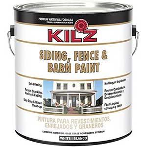 KILZ Exterior Oil Based Paint – Barn/Siding/Fence (White)