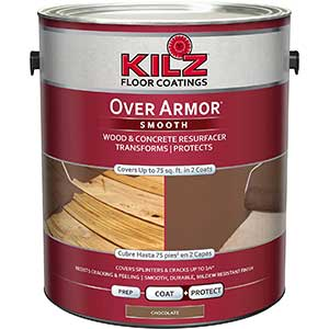 KILZ Smooth-Finished Paint for Wood/Concrete - Chocolate Brown