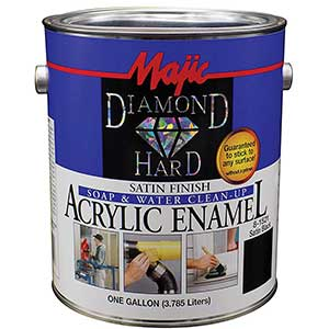 Majic Paints Diamond-Hard Acrylic Enamel, Satin Black/White