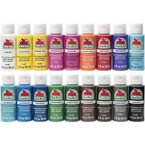 Matte Finish Acrylic Craft Paint Set of 18 colors