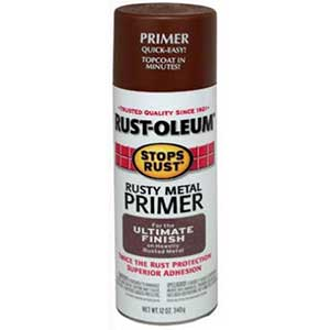 Rust-Oleum Flat Rusty Metal Primer, Spray Paint, 12-Ounce