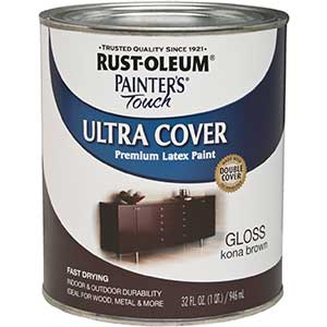 Rust-Oleum Latex Paint for Wood/Concrete/Plastic, Kona Brown