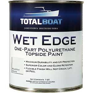 TotalBoat Wet Edge Oil Based Paint (Blue-Glo White)