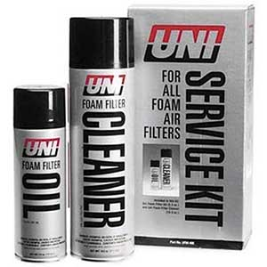 Uni Foam Dirt Bike Cleaner, Filter Oil & Filter Cleaner (Combo Kit)