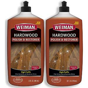 Weiman Polish & Restorer for Hardwood Floors, Removes Scratches