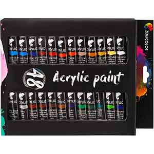Zenacolor Acrylic Paint Set 48 Color