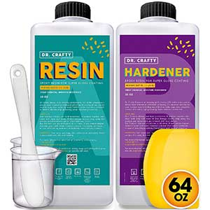 Dr. Crafty Epoxy for Countertops | Resin Kit | Spreader + Stick