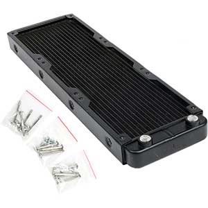 Heat Sink PC Radiators | 360mm Water Cooler | Aluminum | Matte Black