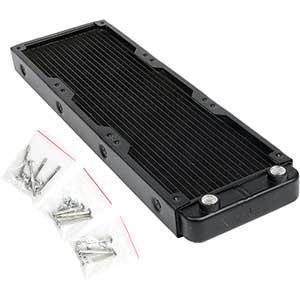 Heat Sink PC Radiators   360mm Water Cooler   Aluminum   Matte Black