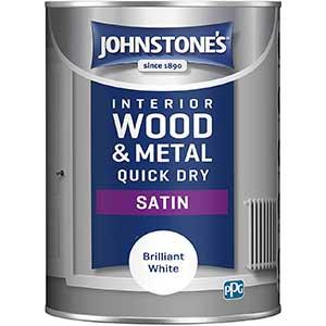Johnstone's Satinwood Paint | Quick-Dry | Brilliant White | 1.25L