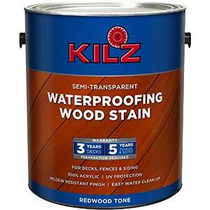 KILZ Stain for Red Oak Floors- Exterior | Waterproof | 500 Sq. Ft.