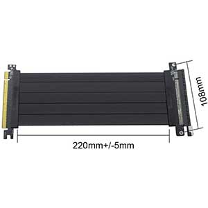 Lesozoh High-Speed Riser Cable | PCI-E 3.0 | 16x GPU | Speed 64GB/s