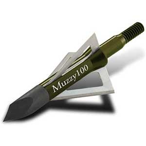 Muzzy Hunting Broadhead For Black Bear- 100/125 Grain| 3 Blades (6pcs