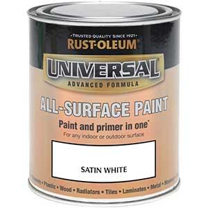 RUST-OLEUM Satinwood Paint | White | Interior/Exterior | 250 ml