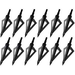Sinbadteck 100 Grain Broadhead For Black Bear | 3 Blades | 12pcs