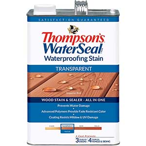THOMPSONS Stain for Red Oak Floors- Water Sealer | Sequoia Red