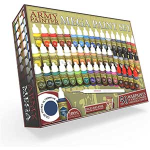 The Army Acrylic Paints for Warhammer | 50 Bottles | Paint Brush