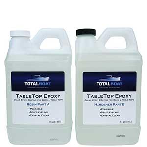 TotalBoat Epoxy for Countertops | Wood & Concrete | 1 Gallon Kit