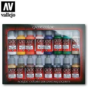 VALLEJO Acrylic Paints for Warhammer | Set of 16 | 17ml Bottles