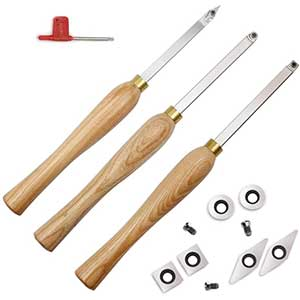 YUFUTOL Carbide Woodturning Tools | 3 Piece | Comfortable Grip