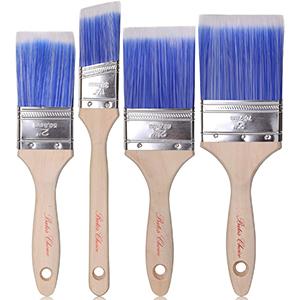 Bates Brush for Polyurethane | Wood Handle| Thick Filament | 4pcs