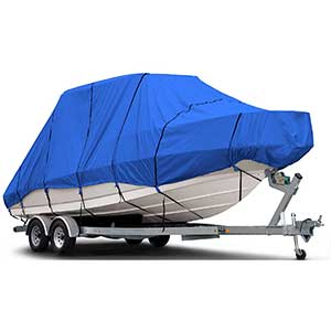 Budge Blue T Top Boat Cover | Waterproof | UV Resistant | 20-22 Ft