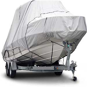 Budge T Top Boat Cover | Multi Resistance | 24' to 26' | Gray