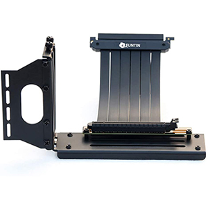 Funtin Vertical GPU Mount | x16 PCI-E 3 | 90°Riser Cable | 20cm